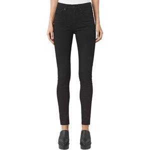All Saints Black Stilt High Rise Skinny Jeans